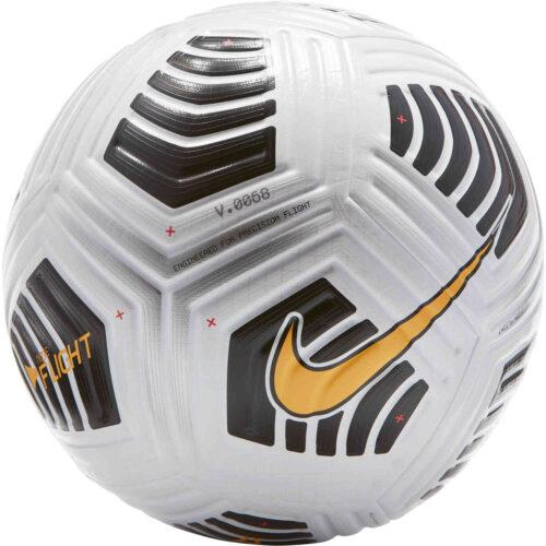 Nike Flight Premium Match Soccer Ball – White & Black with Laser Orange