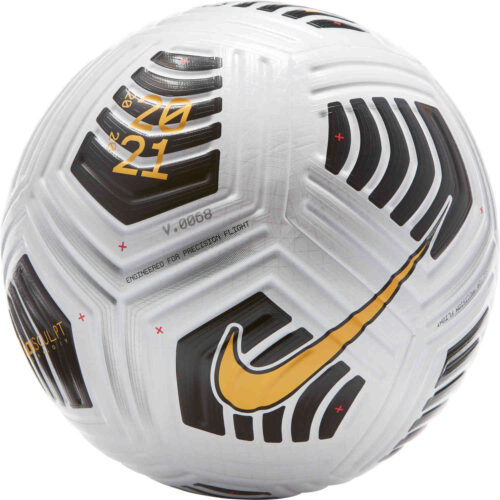 Nike Flight Premium Match Soccer Ball – White & Black with Laser Orange