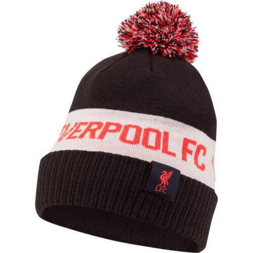 Nike Liverpool Pom Beanie – Black/Laser Crimson