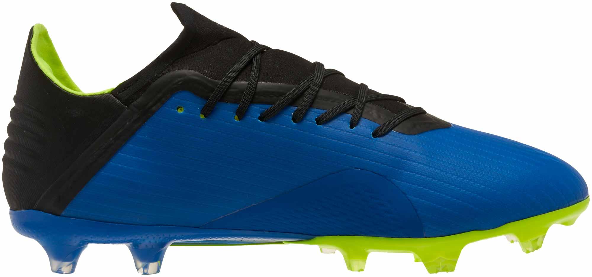 adidas X 18.2 FG Football Blue adidas Soccer Cleats