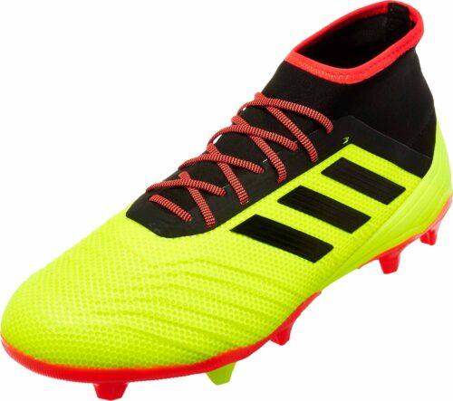 adidas Predator 18.2 FG – Solar Yellow/Black/Solar Red
