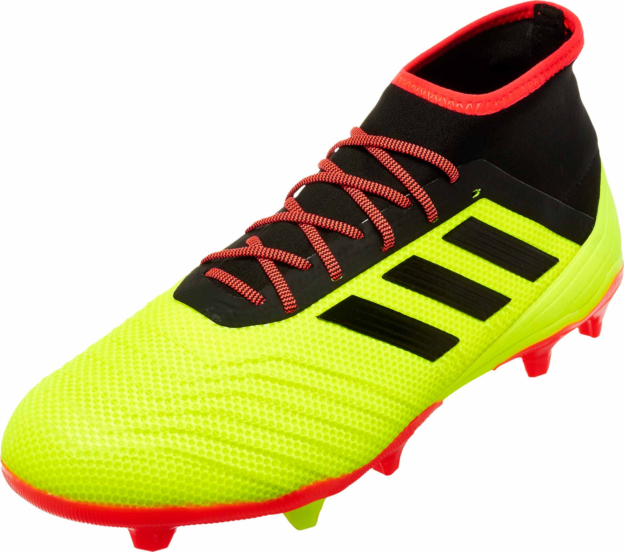 adidas Predator 18.2 FG – Solar YellowBlackSolar Red