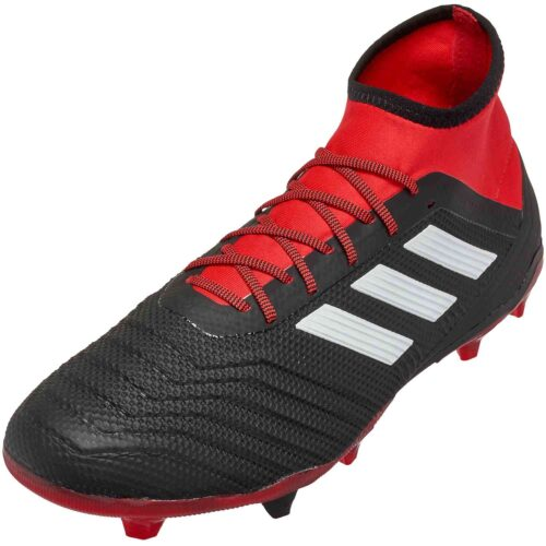 adidas Predator 18.2 FG – Black/White/Red