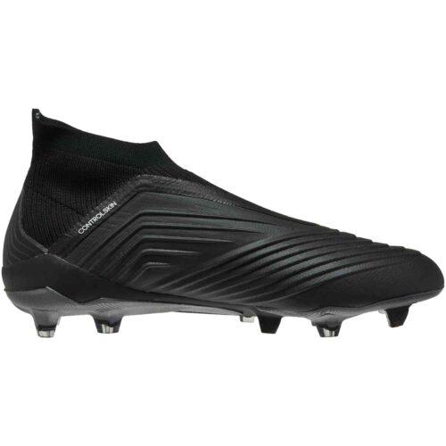 adidas Predator 18+ FG – Black/Black/White