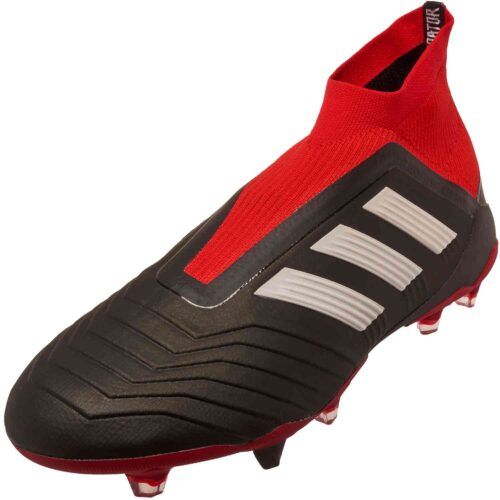 adidas Predator 18  FG – Black/White/Red