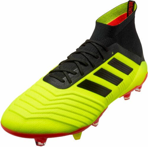 adidas Predator 18.1 FG – Solar Yellow/Black/Solar Red