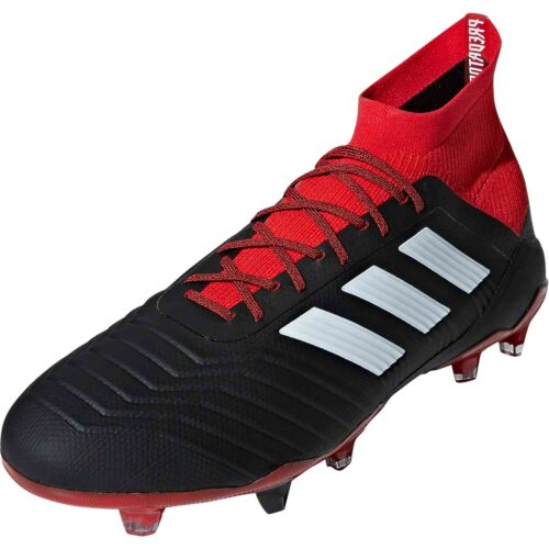 91b571d46 adidas Predator 18.1 FG – Black White Red