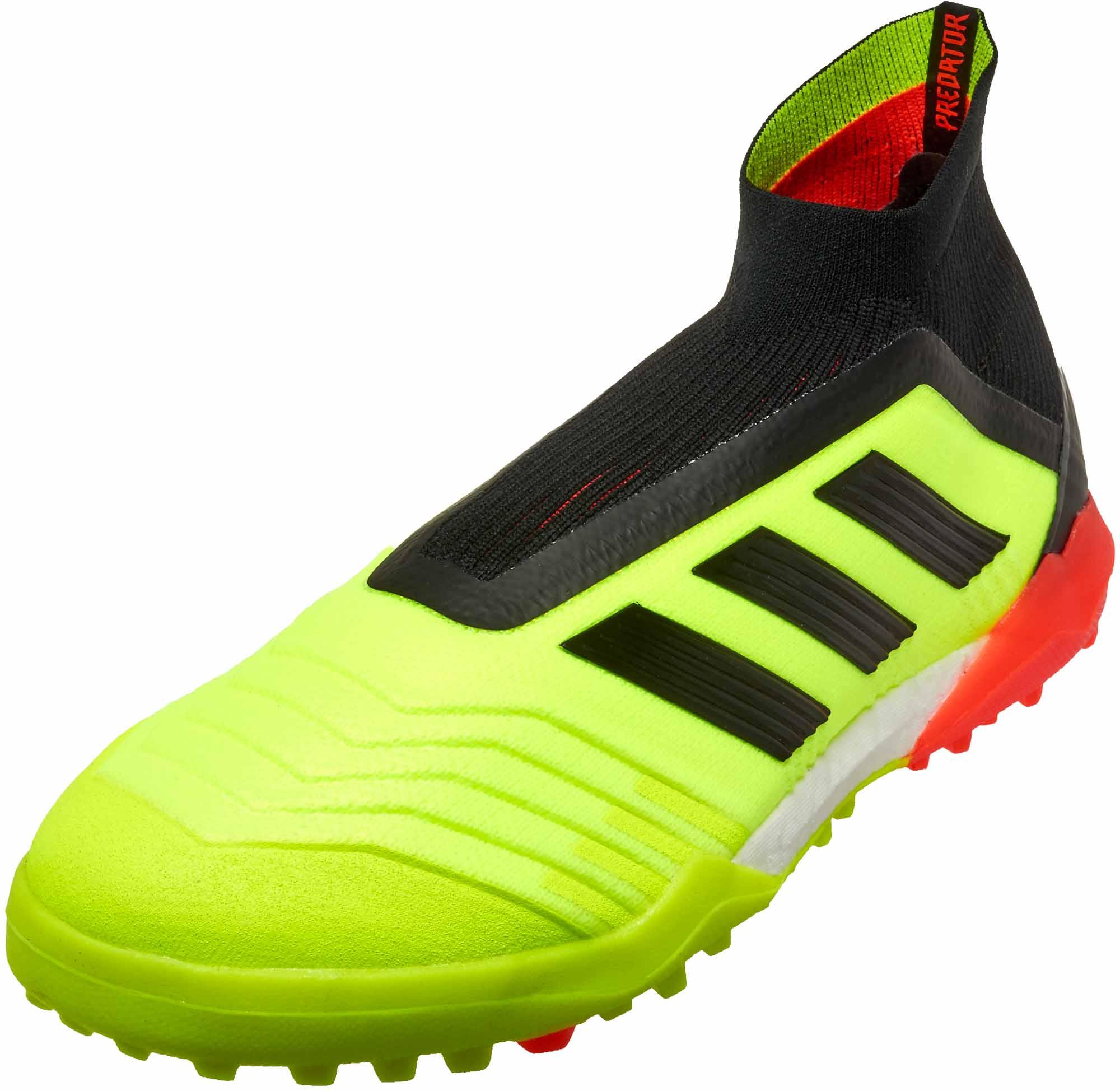 9864fcea229 adidas Predator Tango 18 TF - Solar Yellow Black Solar Red - SoccerPro