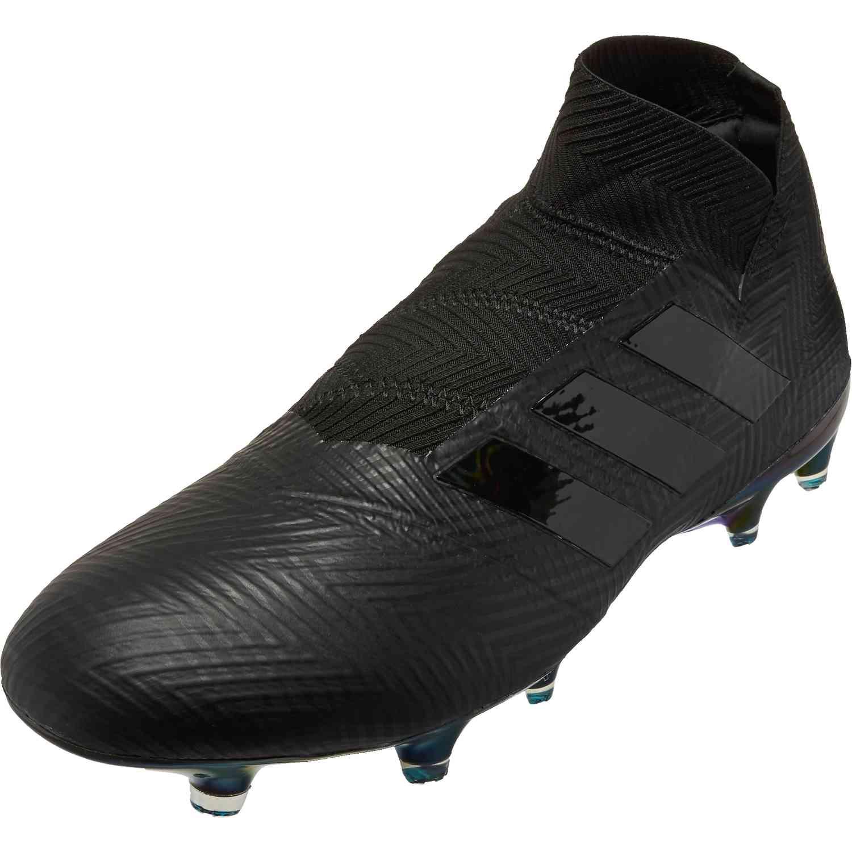 591097dfe adidas Nemeziz 18 FG - Black Black White - SoccerPro