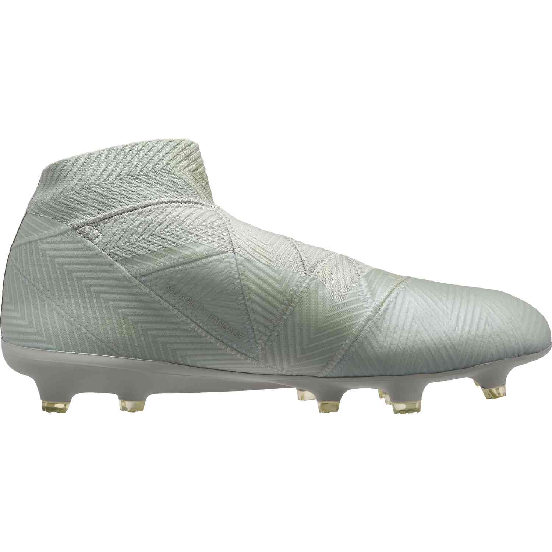 buy online 91051 72a1e adidas Nemeziz 18+ FG – Ash SilverWhite Tint