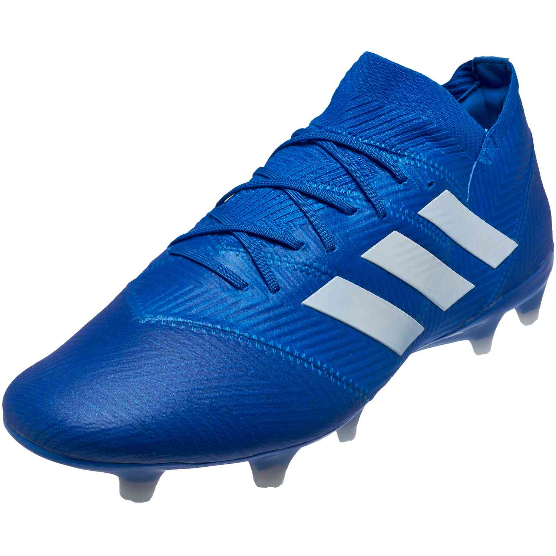 27fbb7a48d59 adidas Nemeziz 18.1 FG - Football Blue White - SoccerPro