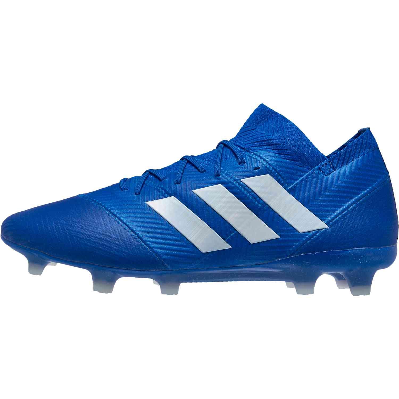 adidas Nemeziz 18.1 FG Football BlueWhite SoccerPro