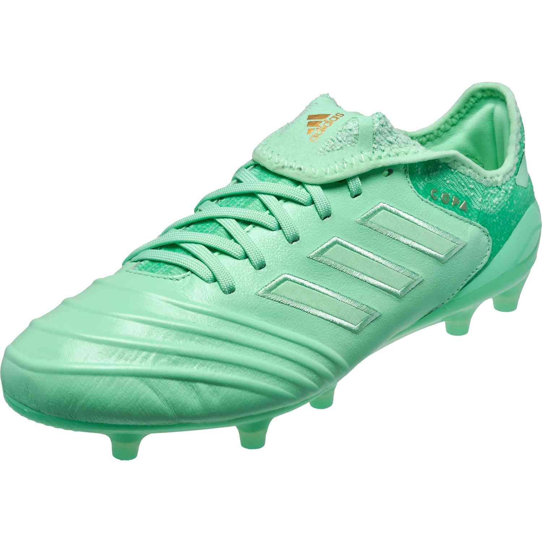 adidas Copa 18.1 FG - Clear Mint/Gold Metallic - SoccerPro