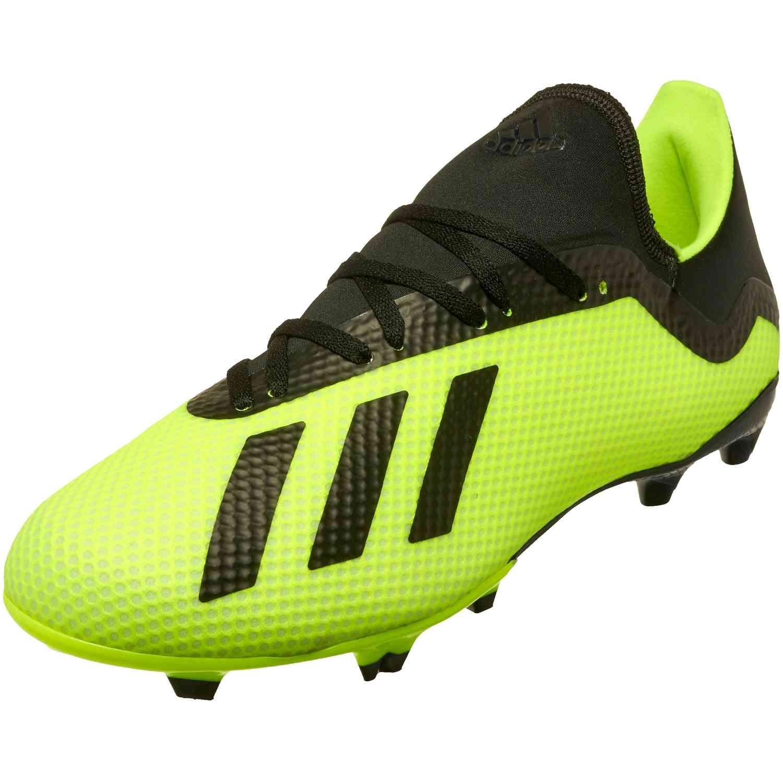 337aaa132 adidas X 18.3 FG - Solar Yellow Black White - SoccerPro