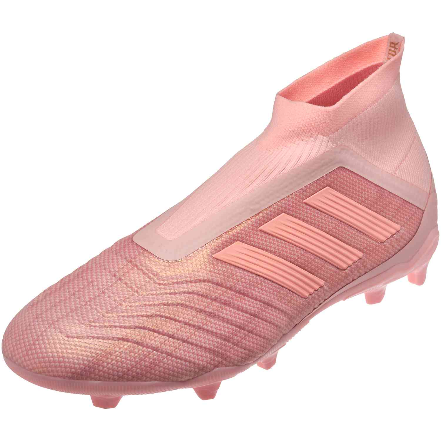 2d9db5fe5c43 adidas Predator 18+ FG - Youth - Clear Orange Trace Pink - SoccerPro
