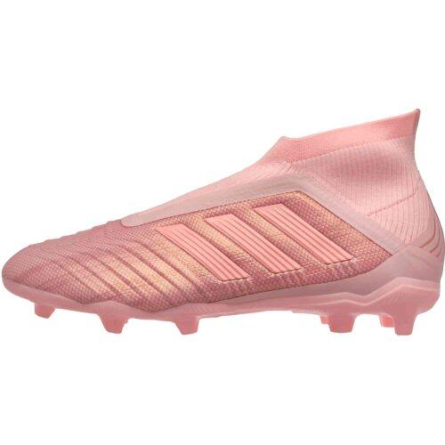 adidas Predator 18+  FG – Youth – Clear Orange/Trace Pink