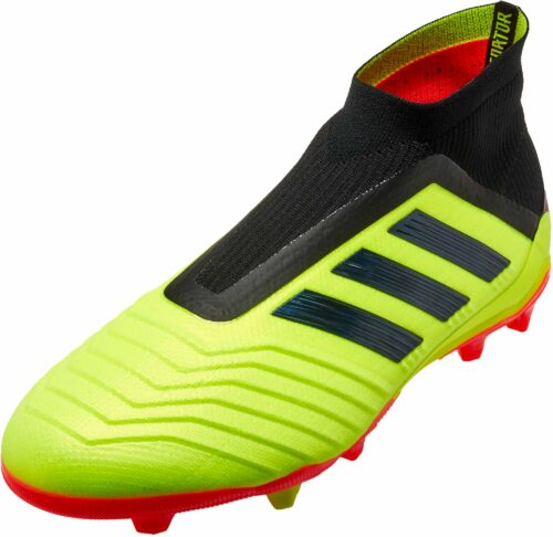 adidas Predator 18+  FG – Youth – Solar Yellow/Black/Solar Red