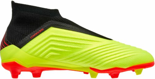 adidas Predator 18   FG – Youth – Solar Yellow/Black/Solar Red