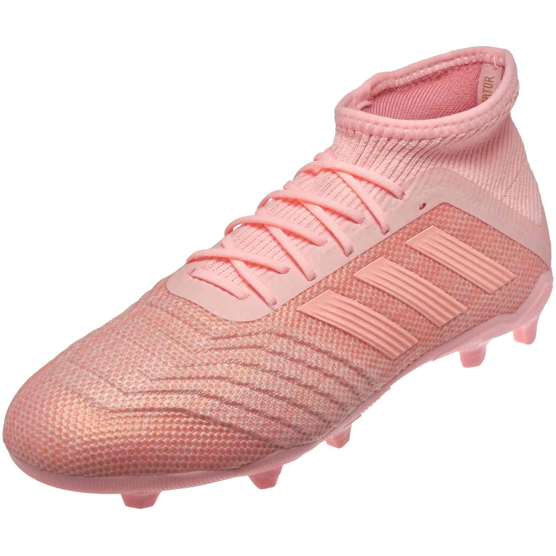 9b5850048b2 Kids adidas Predator 18.1 FG - Trace Pink - SoccerPro