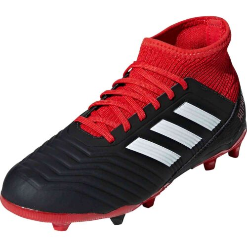 adidas Predator 18.1 FG – Youth – Black/White/Red