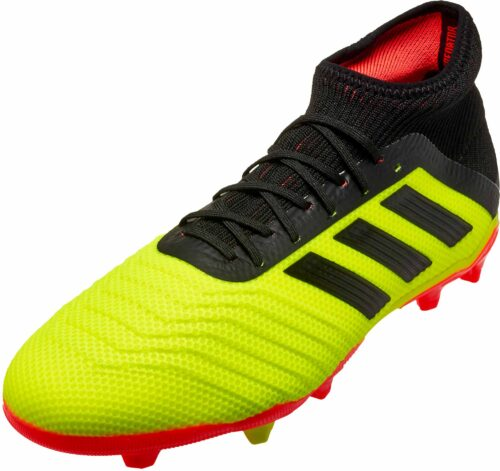 adidas Predator 18.1 FG – Youth – Solar Yellow/Black/Solar Red