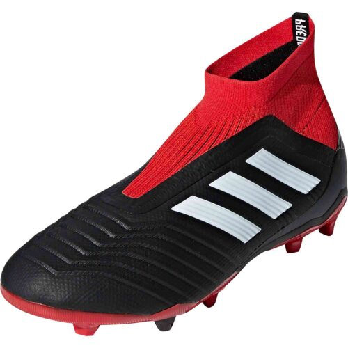 adidas Predator 18  FG – Youth – Black/White/Red