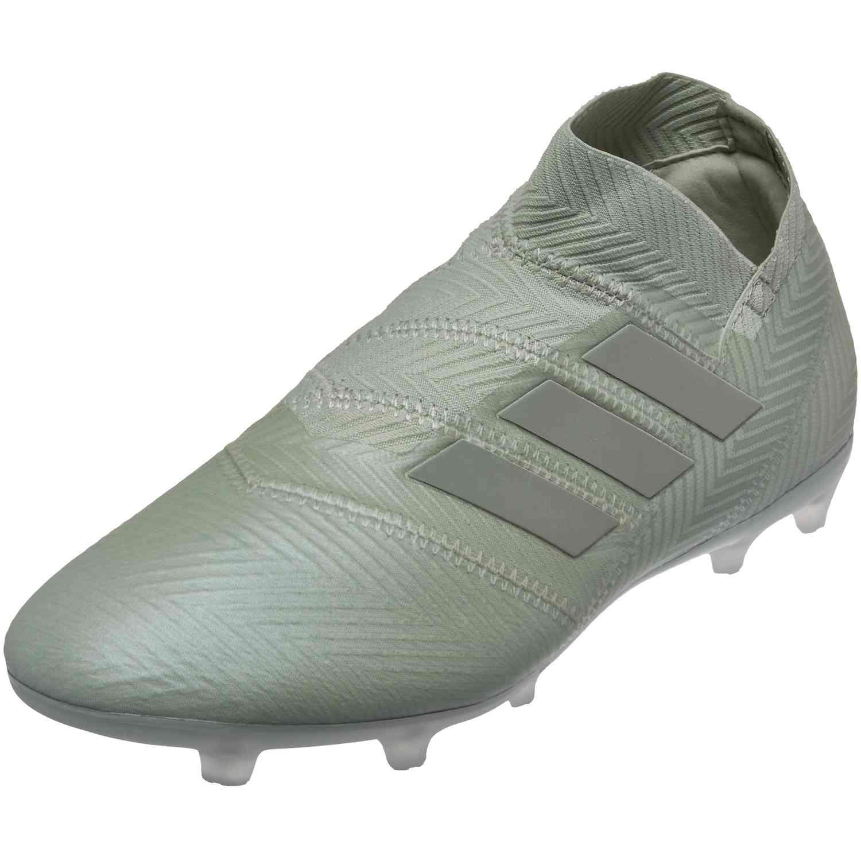 Kids adidas Nemeziz 18+ FG - Ash Silver - SoccerPro 6964dc549749