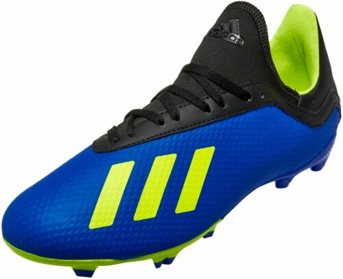 adidas X 18.3 FG – Youth – Football Blue/Solar Yellow/Black