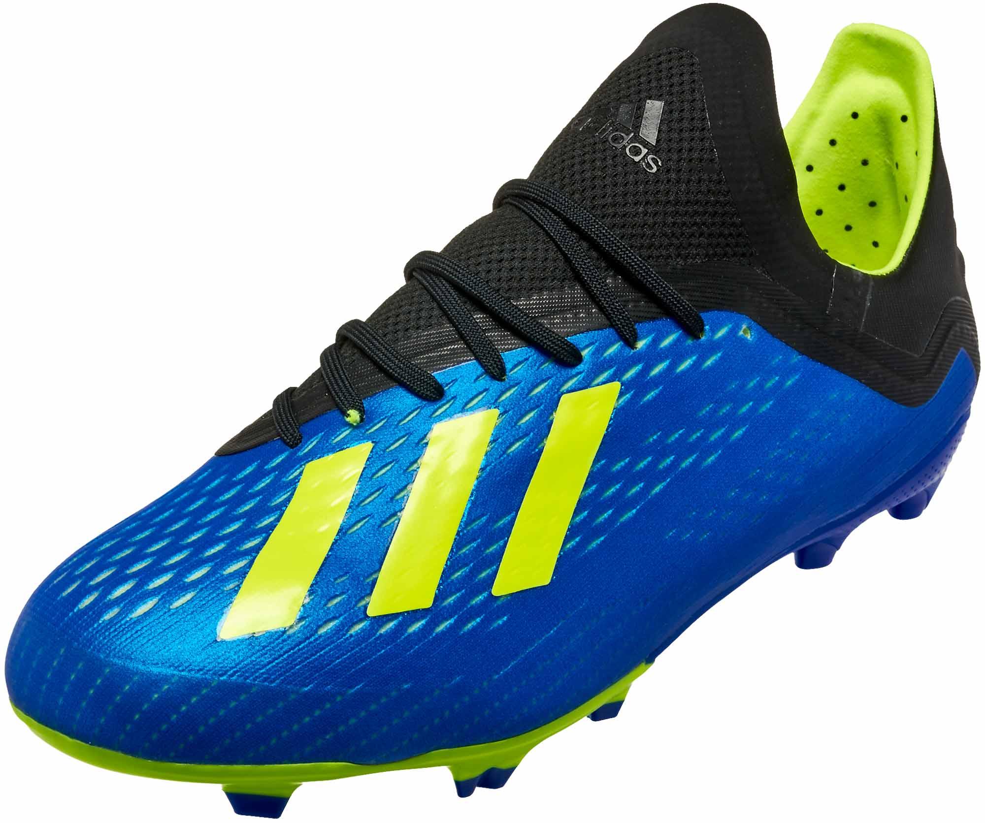 9e5696bfa Youth adidas X 18.1 FG - Football Blue adidas cleats - SoccerPro.com