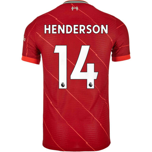 2021/22 Nike Jordan Henderson Liverpool Home Match Jersey
