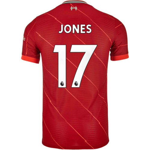2021/22 Nike Curtis Jones Liverpool Home Match Jersey