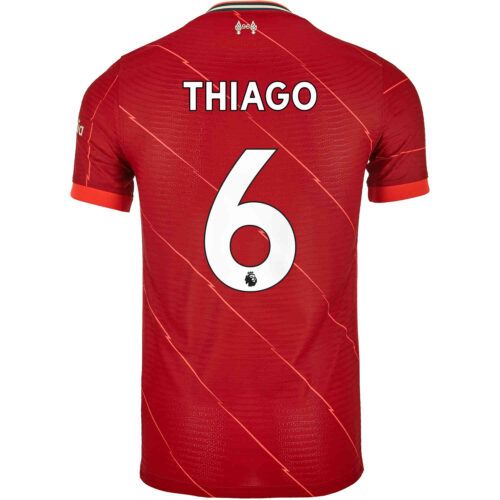 2021/22 Nike Thiago Liverpool Home Match Jersey
