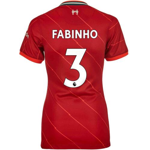 2021/22 Womens Nike Fabinho Liverpool Home Jersey