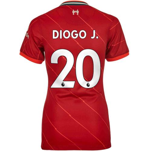 2021/22 Womens Nike Diogo Jota Liverpool Home Jersey