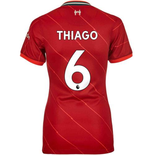 2021/22 Womens Nike Thiago Liverpool Home Jersey