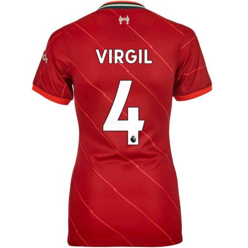 2021/22 Womens Nike Virgil van Dijk Liverpool Home Jersey