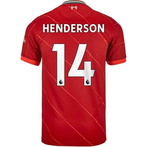 2021/22 Kids Nike Jordan Henderson Liverpool Home Jersey