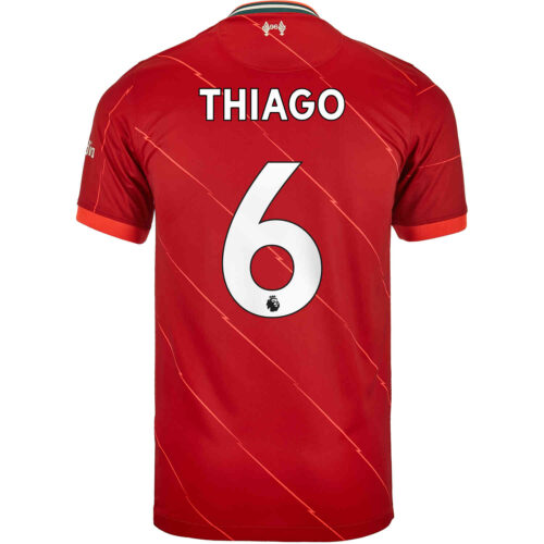 2021/22 Kids Nike Thiago Liverpool Home Jersey