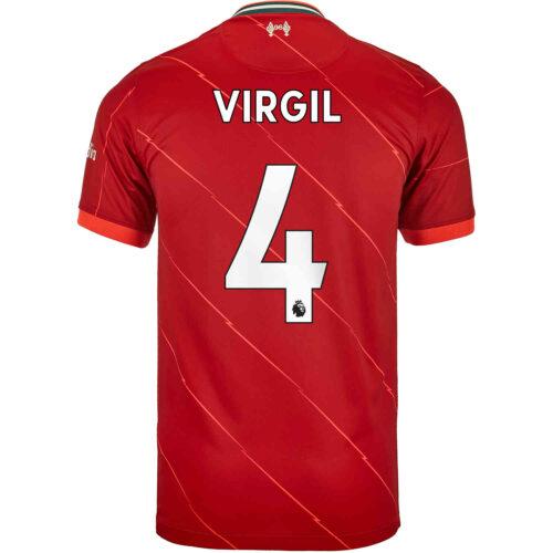 2021/22 Kids Nike Virgil van Dijk Liverpool Home Jersey