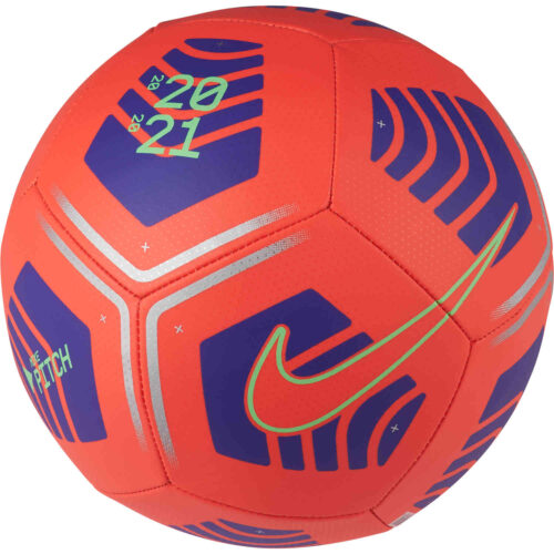 Nike Flight Pitch Soccer Ball – Bright Crimson & Indigo Burst with Rage Green