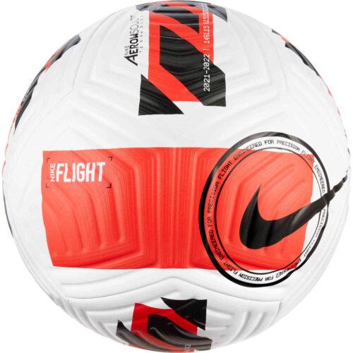 Nike Flight Premium Match Soccer Ball – White & Bright Crimson with Black