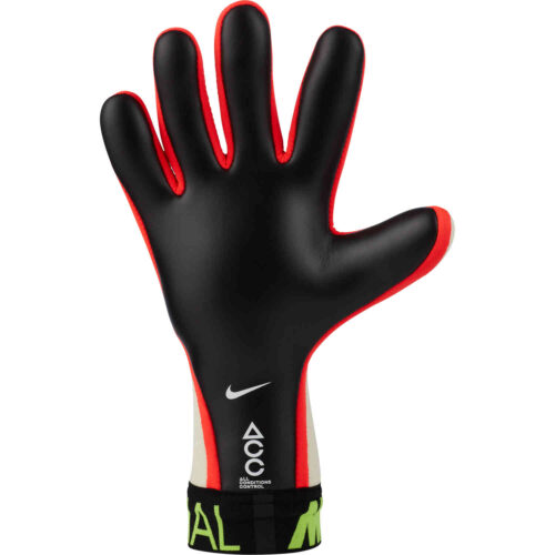 Nike Mercurial Touch Elite Goalkeeper Gloves – White & Volt with Bright Crimson