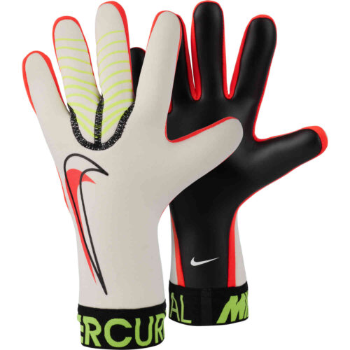 Nike Mercurial Touch Victory Goalkeeper Gloves – White & Volt with Bright Crimson