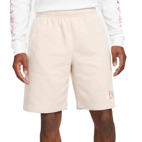 Nike Club America LA Fleece Shorts – Desert Sand/White