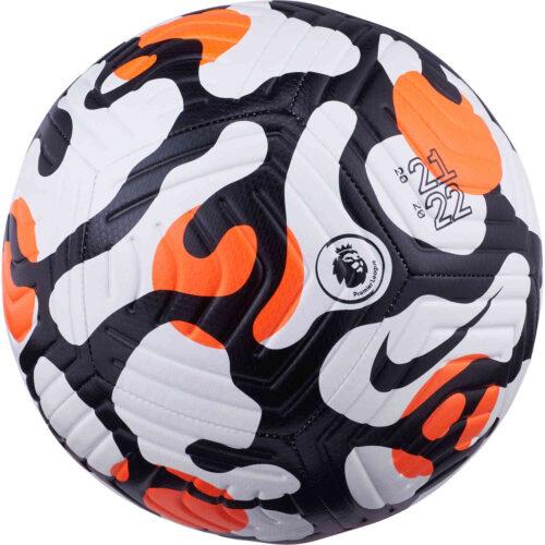 Nike Premier League Strike Soccer Ball – White & Hyper Crimson with Black