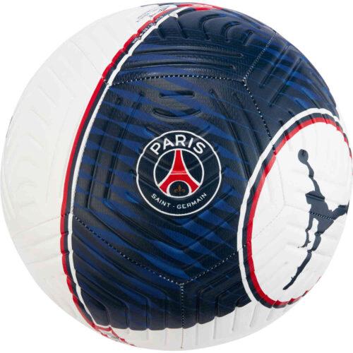 Jordan PSG Strike Soccer Ball – White & University Red with Midnight Navy