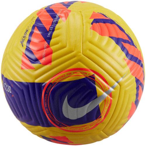 Nike Club Match Soccer Ball – Yellow & Purple with Bright Crimson