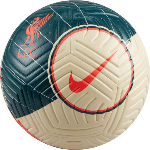 Nike Liverpool Strike Soccer Ball – Fossil & Dark Atomic Tea with Bright Crimson