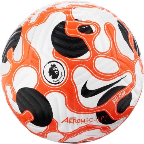Nike Premier League Club Soccer Ball – White & Hyper Crimson with Black