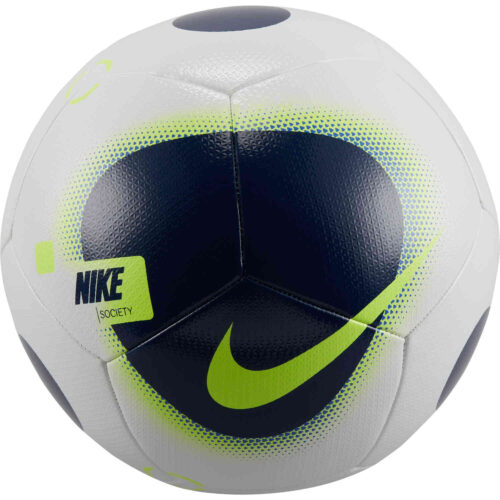 Nike Society Soccer Ball – White & Blue Void with Volt